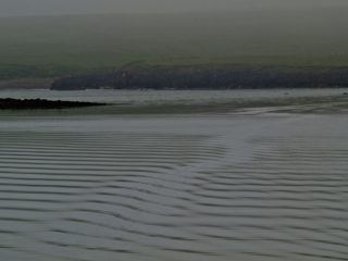 A  photograph by Philip Bell depicting Landscape Water with main colour being Grey and titled Papa Stour Ripples I