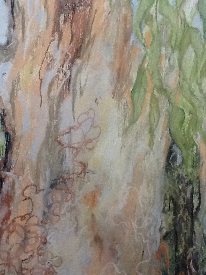 Painting by Helen Paulucci titled Gumtree