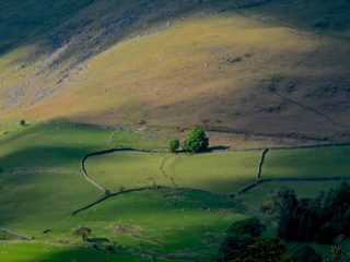 A  photograph by Philip Bell depicting Landscape Mountains with main colour being Green and titled Keswick I