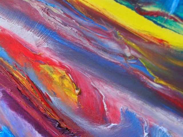 Oil Painting by Belinda McDonnell titled Colour and movement