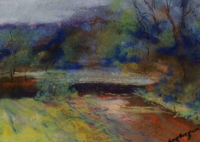 Oil Painting by Margaret Morgan-Watkins titled Frosty morn Kilmore East VIC