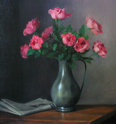 Painting by Helen Paulucci titled Pink Roses