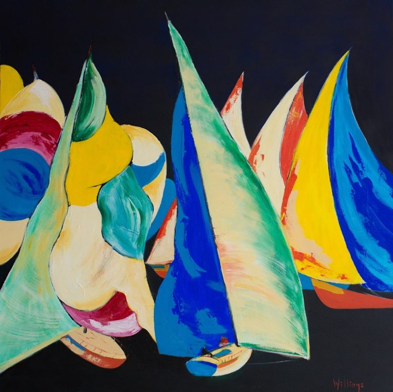 Acrylic Painting by Brian Williams titled Sails