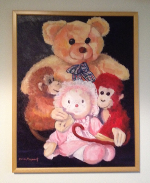Oil Painting by Brian Rayment titled Teddy