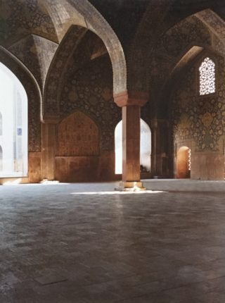 A  photograph by Alireza Shirkhani depicting Buildings with main colour being Black Brown and Cream and titled Jameh Mosque  #1