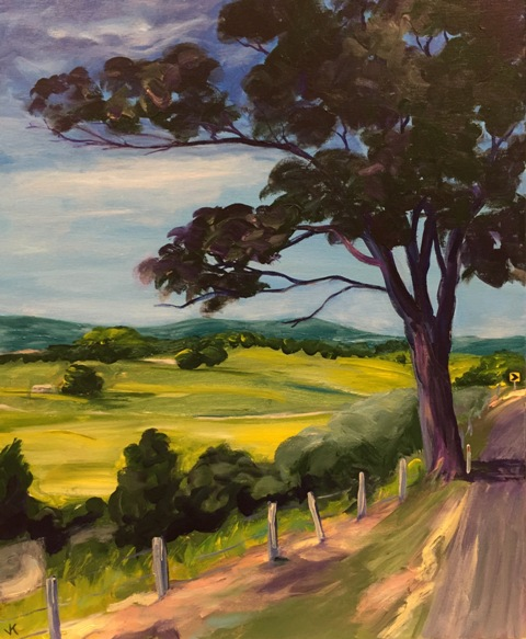 Acrylic Painting by John Klein titled Road To Murwillumbah