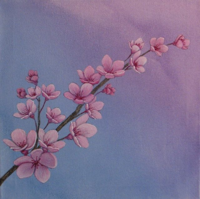 Acrylic Painting by Julie-Anne Gatehouse titled Blossom
