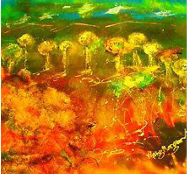 Watercolour Painting by Margaret Morgan-Watkins titled Outback Oz