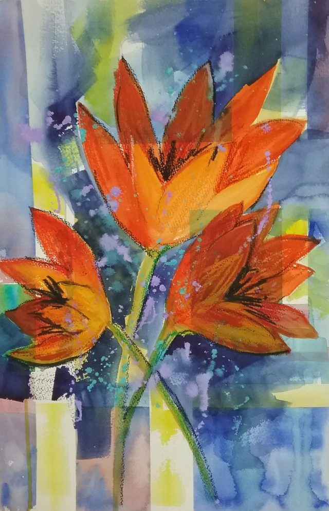Mixed Media Painting by Marion Hughes titled A Dash of Colour
