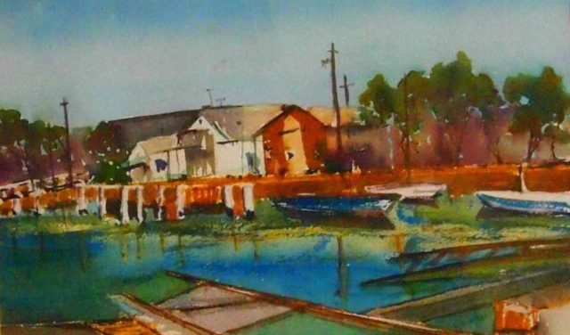 Watercolour Painting by Margaret Morgan-Watkins titled Point Lonsdale Vic