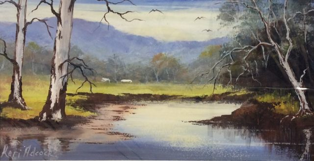 Acrylic Painting by Keri Adcock titled Near Harcourt