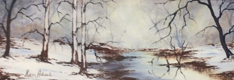 Acrylic Painting by Keri Adcock titled Winter's Morning