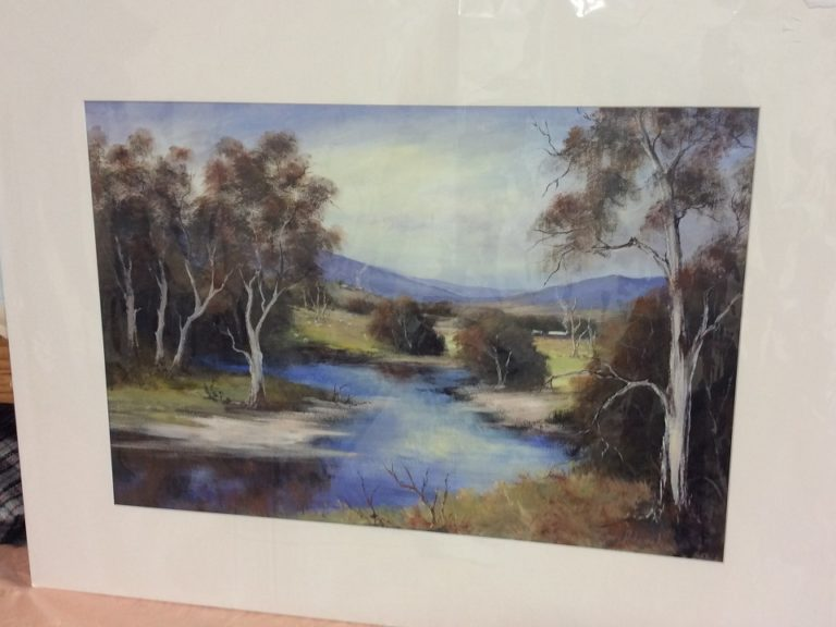 Acrylic Painting by Keri Adcock titled Campaspe River