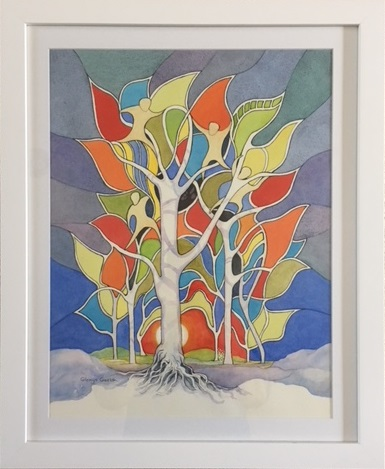 Watercolour Painting by Glenys Gaston titled Spirited II