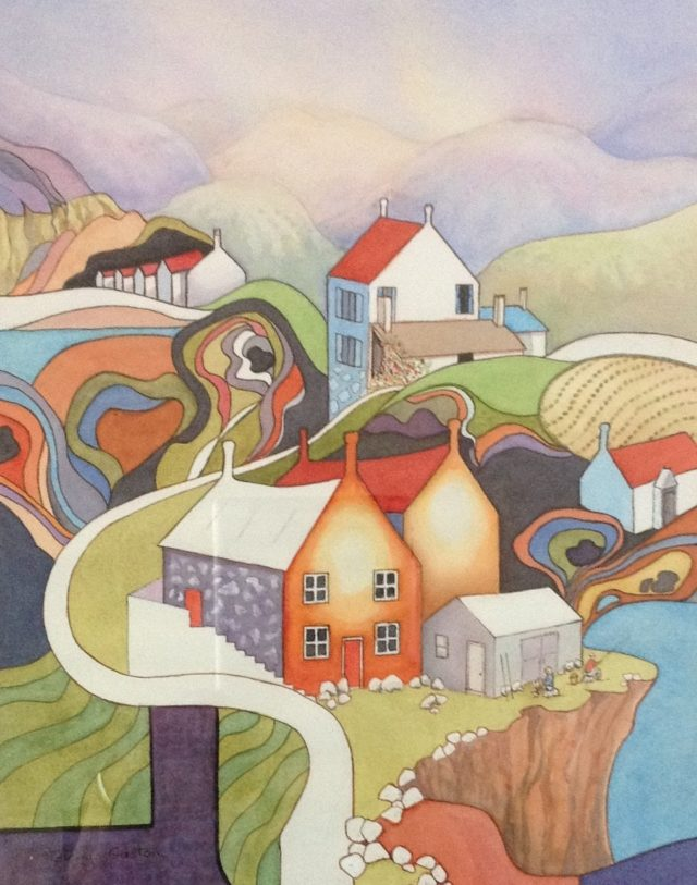 Watercolour Painting by Glenys Gaston titled Higher Places II