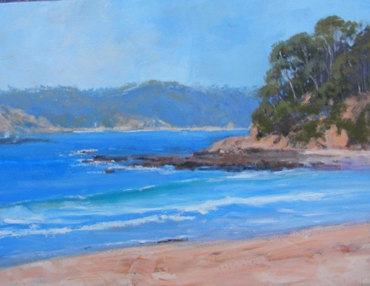 Oil Painting by Trish Bennett titled South Coast Magic