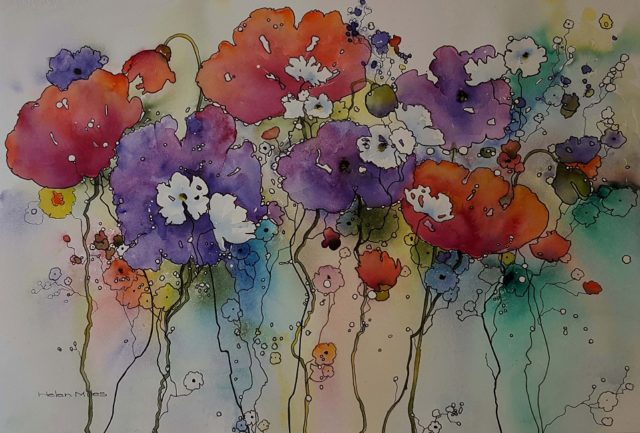 Watercolour Painting by Helen Miles titled Happy Place