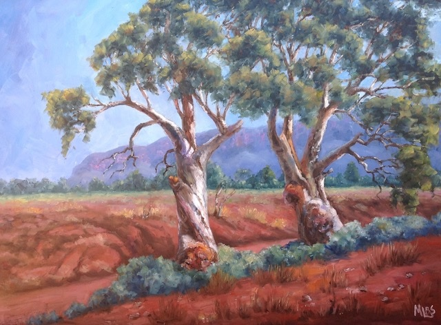 Oil Painting by Moyra Le Blanc Smith titled Aroona Heysen Country