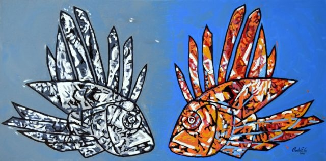 Other Painting by Camilo Esparza titled Marine Duality
