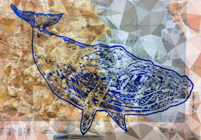 Other Painting by Camilo Esparza titled Whale in Dreams over the Adriatic Sea