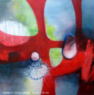 An Oil painting by Jennifer Gowen in the Abstract style  depicting  and titled Hidden II