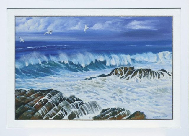 Oil Painting by Lindsay Kilminster titled Sea Foam