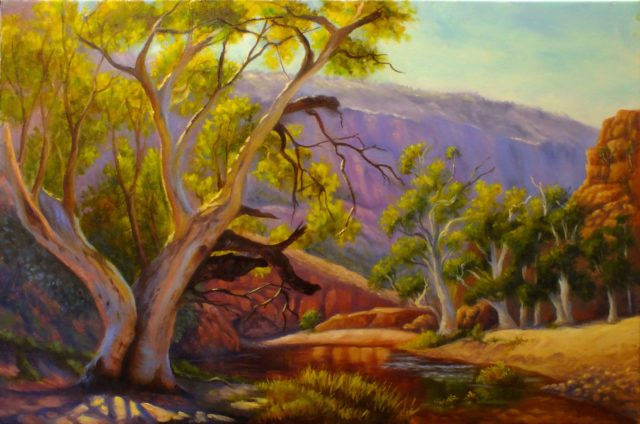 Acrylic Painting by Christopher Vidal titled Warm afternoon - Ormiston Gorge