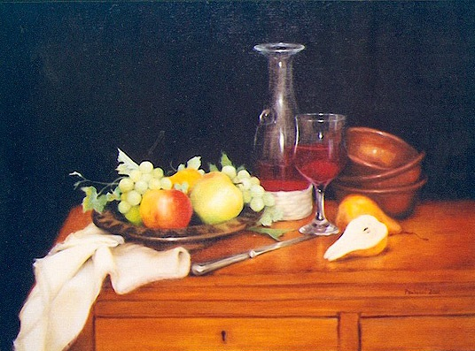 Painting by Helen Paulucci titled Kitchen Still Life