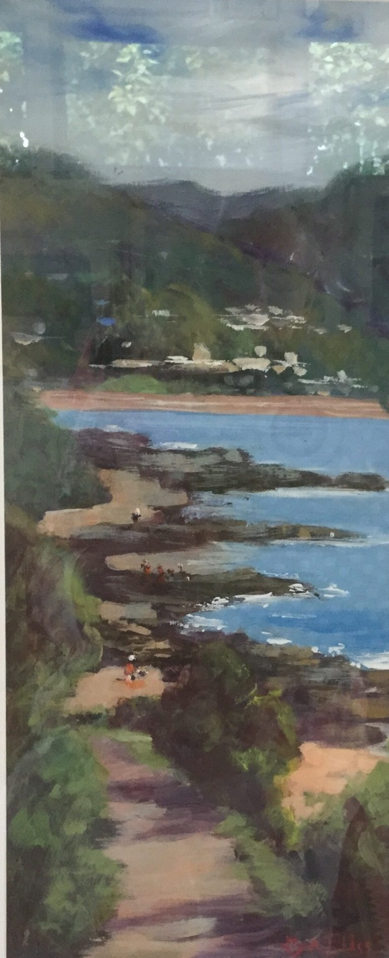 Oil Painting by Lyn Ellis titled Out for a Stroll, Lorne