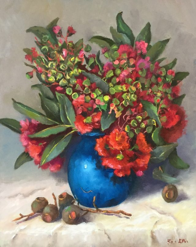 Oil Painting by Lyn Ellis titled Early in the Season