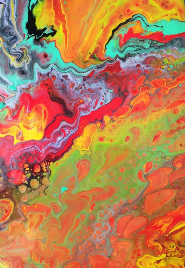 Oil Painting by Margaret Morgan Watkins titled Colours of the Rainbow
