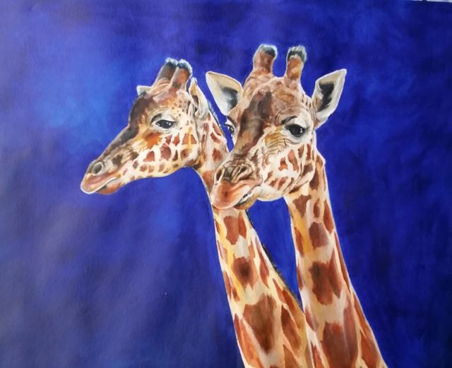 Painting by Kathy Medbury titled Great Mates