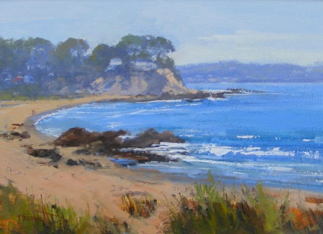Oil Painting by Trish Bennett titled A Day at Malula Bay