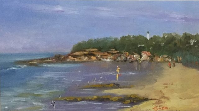 Oil Painting by Lyn Ellis titled Point Lonsdale Beach