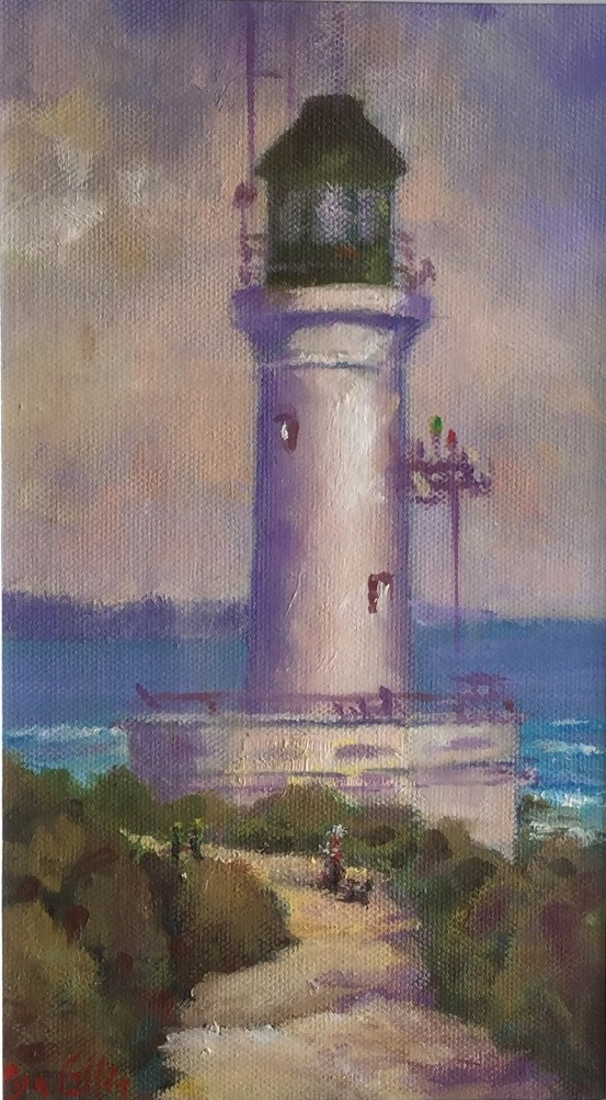 Oil Painting by Lyn Ellis titled Point Lonsdale Lighthouse