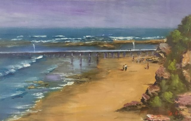Oil Painting by Lyn Ellis titled Point Lonsdale Pier