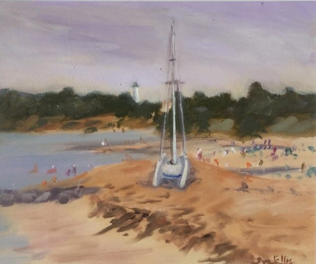 Oil Painting by Lyn Ellis titled Summer Sailing at Point Lonsdale