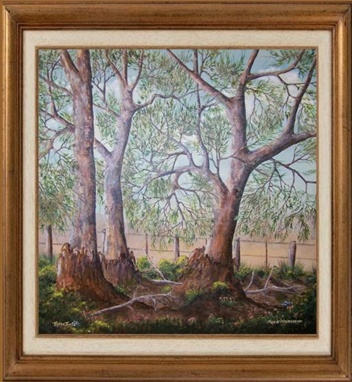 Acrylic Painting by Rex Woodmore titled Three Trees