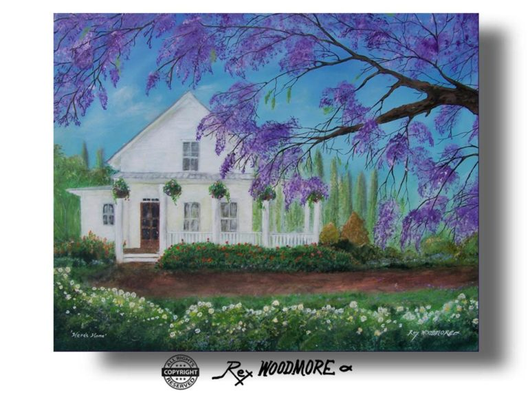 Acrylic Painting by Rex Woodmore titled Here's Home