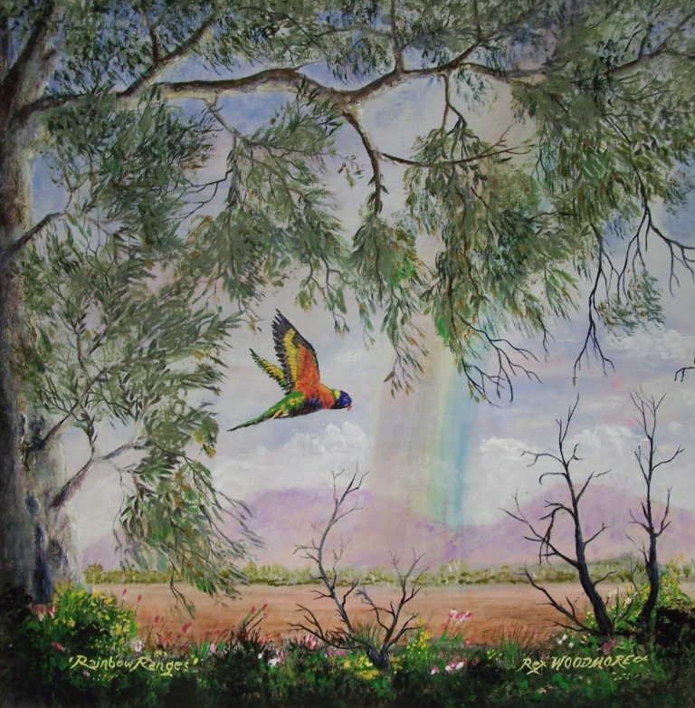 Acrylic Painting by Rex Woodmore titled Rainbow Ranges