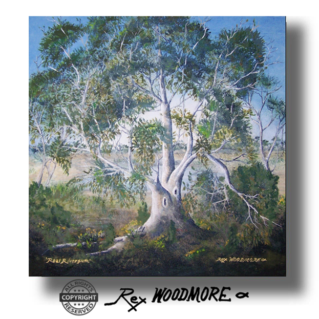 Acrylic Painting by Rex Woodmore titled Real Rivergum