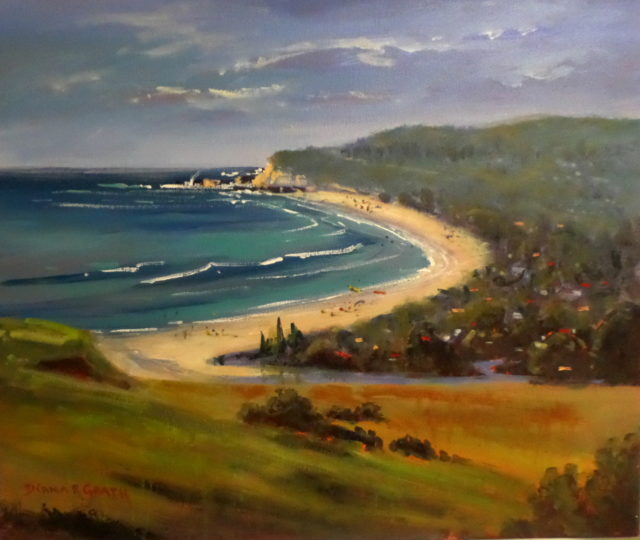Acrylic Painting by Diana Garth titled Towards Gerringong