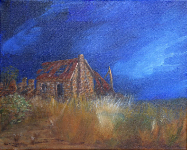 Acrylic Painting by Alex Mortensen titled Abandoned