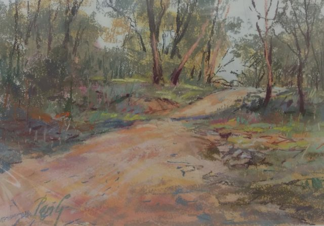 Pastel Painting by Penelope Gilbert-Ng titled Up the Path