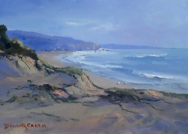 Oil Painting by Diana Garth titled Sand Dunes Dolphin Point