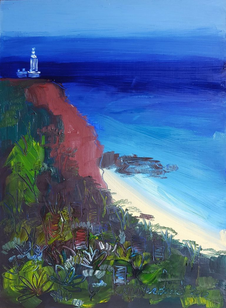 Oil Painting by Jennifer Baird titled Norah Head Lighthouse
