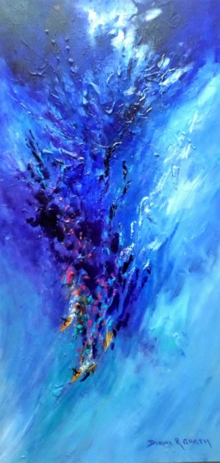 An Acrylic painting by Diana Garth in the Abstract style  depicting  with main colour being Blue and titled The Big One