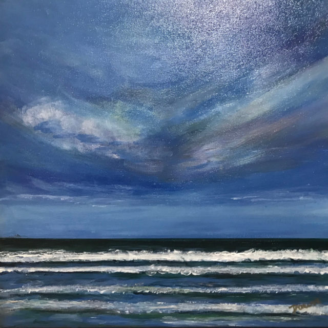 Acrylic Painting by Dawn Luttrell titled Down to the Sea