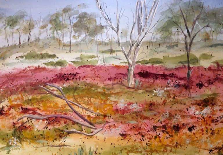Watercolour Painting by Margaret Morgan Watkins titled Wildflowers of the West