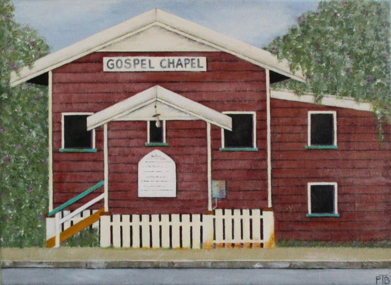 Acrylic Painting by Pauline Bailey titled Gospel Chapel